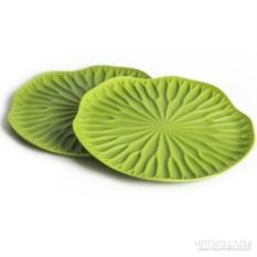 Набор из 2 зеленых подставок под бокалы Lotus