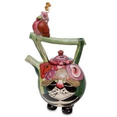 Заварочный чайник Кот Кланси и птичка