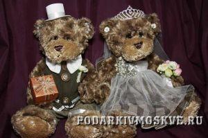 Свадебные медведи Счастливые молодожены