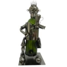 Декор бутылки из металла Футболист
