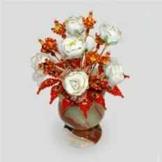Цветы из янтаря Праздник солнца
