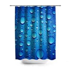 3D-штора для ванной Капли воды