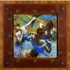 Картина из кожи Голубые танцовщицы Дега