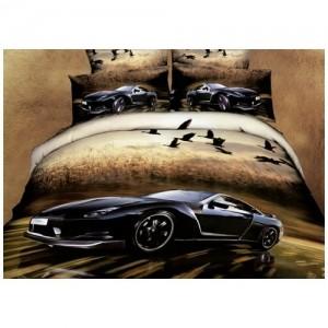Постельное белье 3D Sport car (евро)