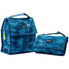 Сумка-холодильник для обеда Lunch bag Blue Camo