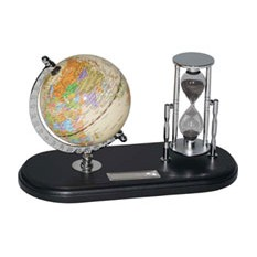 Набор с глобусом на черной подставке «Время и мы»