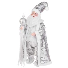Новогоднее музыкальное украшение Серебристый Дед Мороз