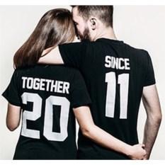 Парные футболки Together since (укажите год)