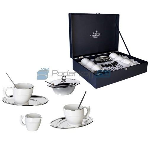 Набор для кофе с посеребрением на 6 персон Ricciolo