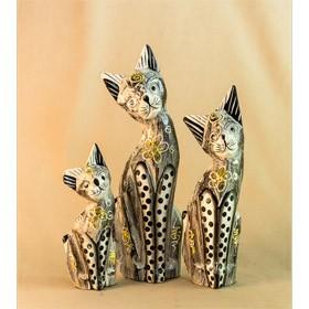 Сувенир из дерева Кошки. набор 3 штуки