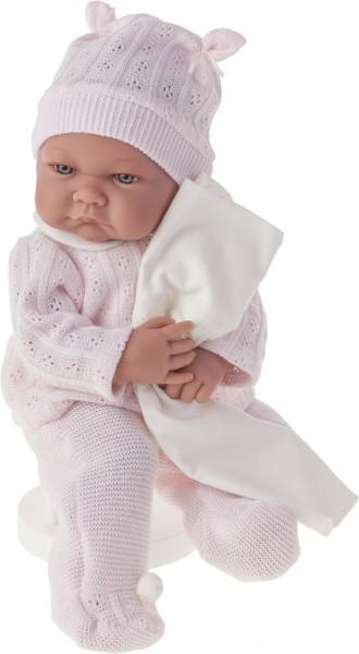 Озвученная кукла-младенец Ника в розовом