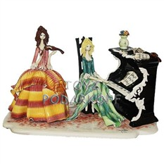 Статуэтка из фарфора Пианистка и скрипачка