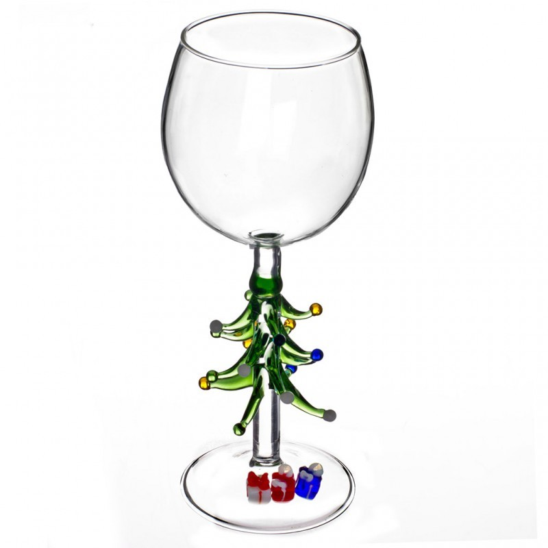 Бокал для вина Ёлочка с подарками