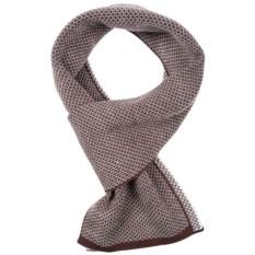 Коричнево-белый мужской шарф Urban