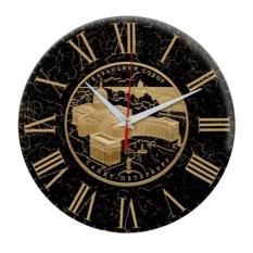 Черные круглые часы Санкт-Петербург. Казанский собор