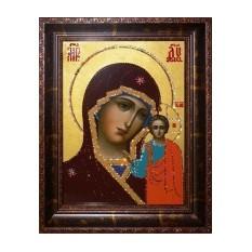 Икона из кристаллов Сваровски «Казанская Божья Матерь»