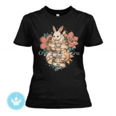 Женская футболка Death awaits you