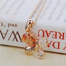 Кулон с цирконием и кристаллами Любовь
