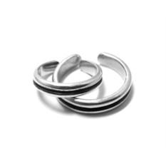 Фаланговые парные кольца Рок'н'ролл вдвоем (серебро)