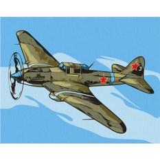 Картина по номерам «Штурмовик Ил-2 »