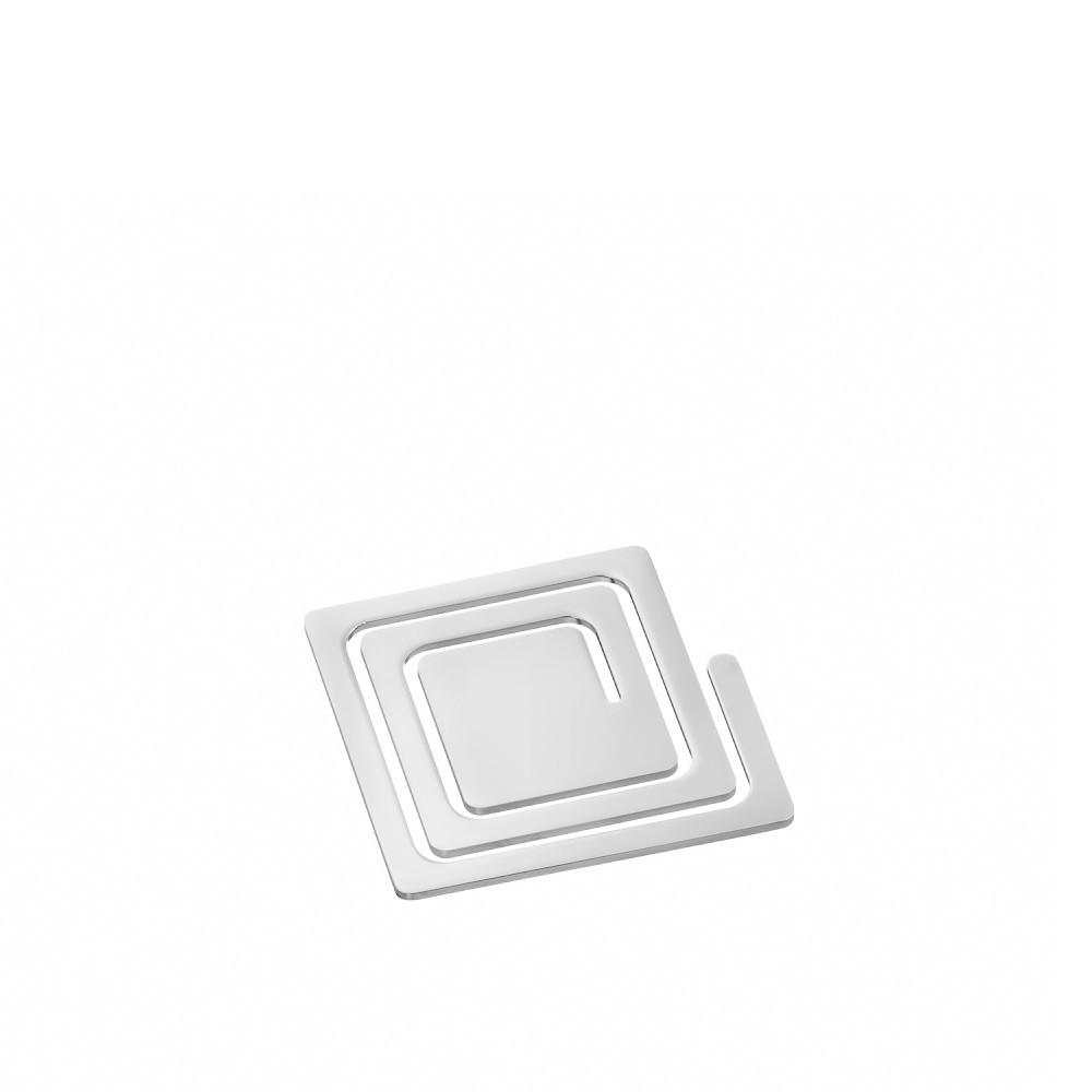 Серебряный квадратный зажим для денег