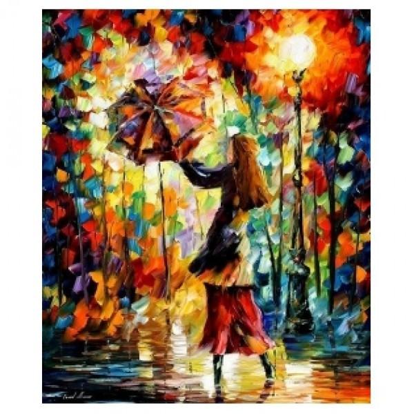 Картина-раскраска по номерам на холсте Девушка