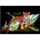 Картина с кристаллами Swarovski Ягуар