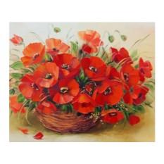 Картины по номерам «Маки в корзине»