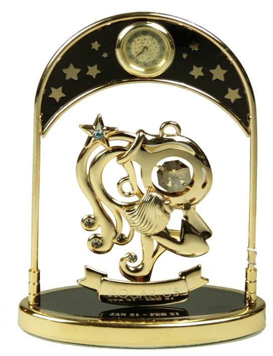 Фигурка декоративная Swarovski с часами Водолей