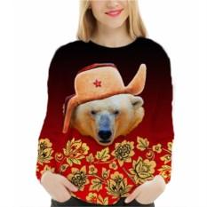 Женский свитшот Белый медведь в шапке
