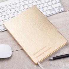 Записная книжка с гравировкой «Золотому человеку»