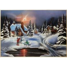 Картина Swarovski Зима, размер 70 х 50 см