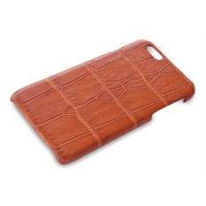 Чехол на iPhone 7 из кожи крокодила (цвет - cappuccino)
