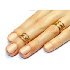 Кольца на фаланги Паутинки (золото, 750 проба)
