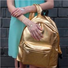 Золотистый рюкзак Metallic
