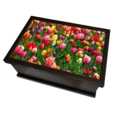 Ларец-шкатулка со съемной вставкой-разделителем Тюльпаны