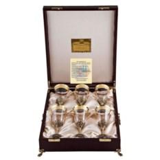 Набор бокалов для вина в футляре Богемия (6 штук)
