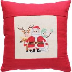 Набор для вышивания Дед Мороз, олененок и снеговик