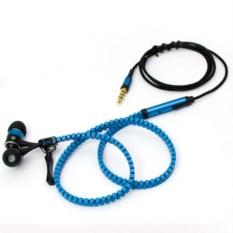 Голубые наушники на молнии Zipper