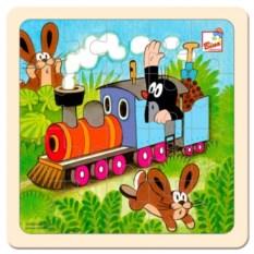 Пазл для детей Маленький крот на паровозе