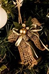 Новогоднее украшение Золотой колокольчик