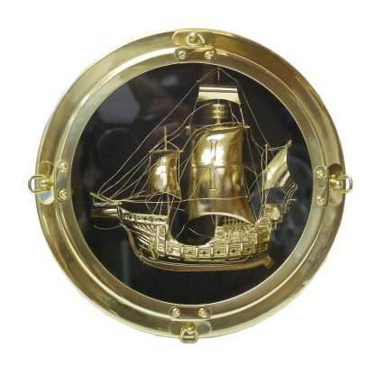 Панно «Иллюминатор с кораблём»