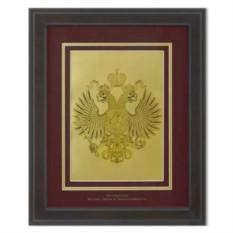Картина Герб Российской Федерации на красном фоне