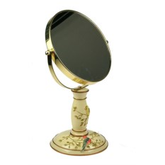 Золотистое настольное зеркало Романтика