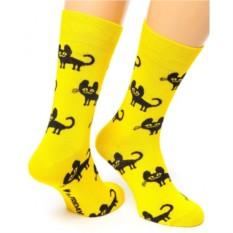 Желтые носки Friday Charming Cat
