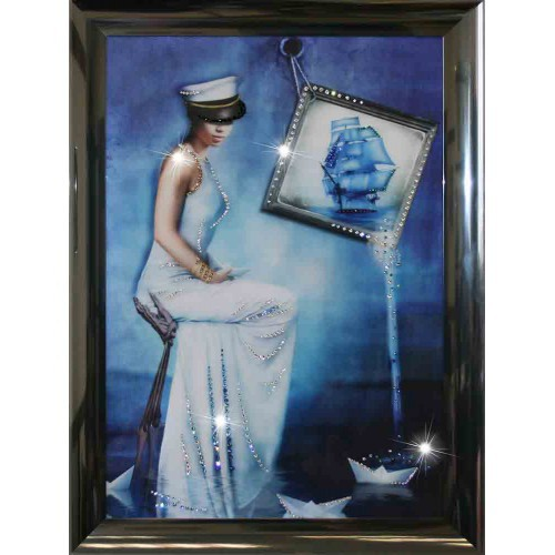 Картина Swarovski Морская Дама