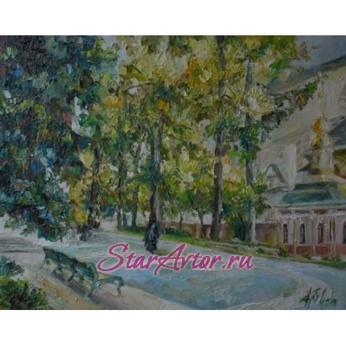 Авторская картина Городской пейзаж У трапезного храма