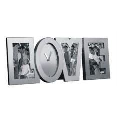 Матовые часы-фоторамка Love