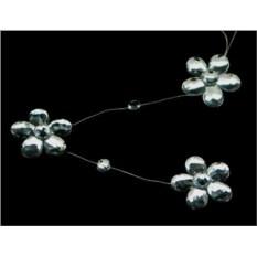 Серебряная гирлянда Романтичные цветы Crystal Deco