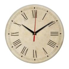 Бежевые ретро-часы с римскими цифрами Винтаж